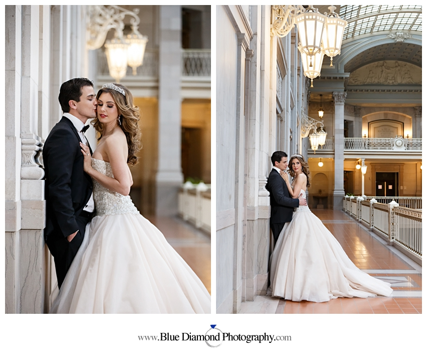 Hartford City Hall Wedding Glam Styled Shoot 187 Blue
